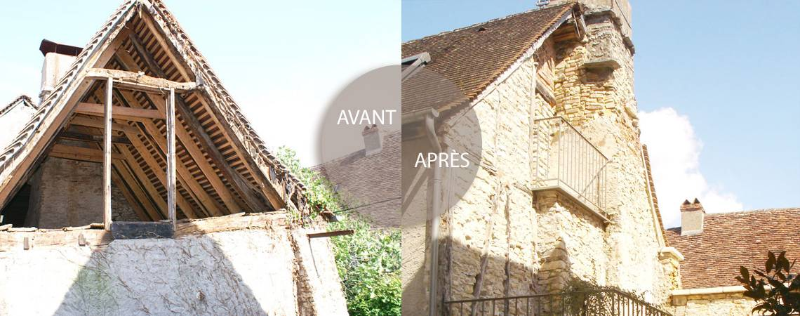 Renovation d'un pignon par Coreb